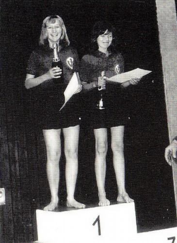 Stadtmeister Damen-Doppel 1975: Jutta Hahn & Christl Kauderer