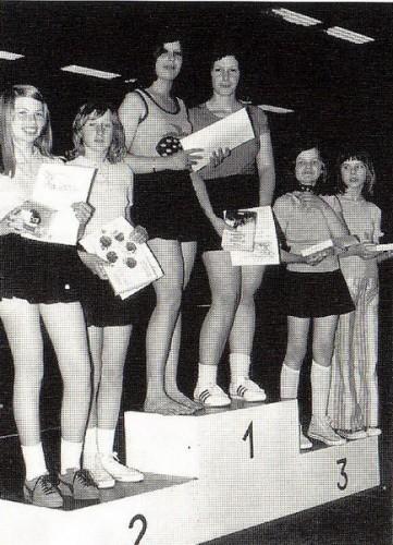 Stadtmeister Mädchen-Doppel 1974: Karin Bazle & Ute Drexler