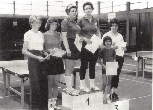 Stadtmeister Damen-Doppel 1976: Irene Bolldorf & Karin Bazle